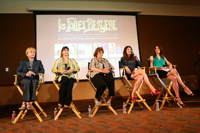 """Folies Bergere"" veterans remember the show's glory days at the Tropicana during a panel discussion kicking off an exhibit at the Nevada State Museum, Las Vegas. Loren Townsley/Las Vegas Review-Jo ..."