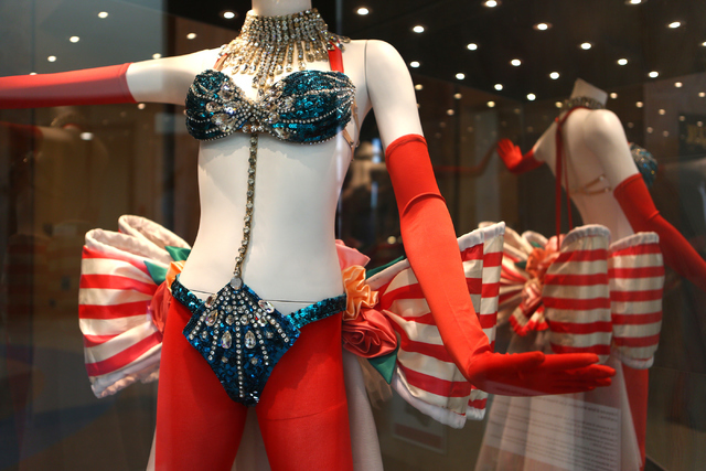 "The Nevada State Museum's new exhibit devoted to the Tropicana's long-running ""Les Folies Bergere"" features costumes, sketches and recollections from the show's almost 50-year run. Loren Townsley/ ..."