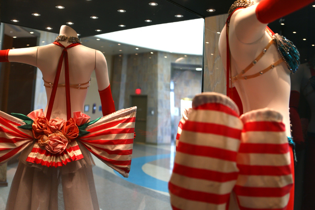 "Elaborate showgirl costumes highlight the new exhibit ""Les Folies Bergere: Entertaining Las Vegas One Rhinestone at a Time,"" which is on display though Jan. 15. Loren Townsley/Las Vegas Review-Jou ..."
