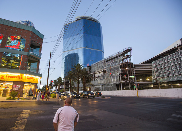 The unfinished Fontainebleau Hotel, center, on Las Vegas Blvd. and Circus Circus Dr. is seen on Wednesday, June 1, 2016. Jeff Scheid/Las Vegas Review-Journal Follow @jlscheid