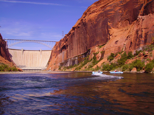 Half-day smooth-water raft trips begin directly below the Glen Canyon Dam outside of Page, Ariz. Deborah Wall/Special to View