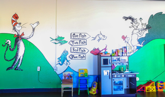 Artist Lindsey Bischu0027s Completed A Large Mural Based Off Of Dr. Seuss  Characters In The Part 49