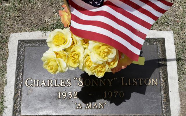 "Charles ""sonny"" Liston's gravesite at Davis Memorial Park at 6200 Eastern Ave., is shown on Thursday, June 9 , 2016, in Las Vegas. (Bizuayehu Tesfaye/Las Vegas Review-Journal) Follow @bizutesfaye"