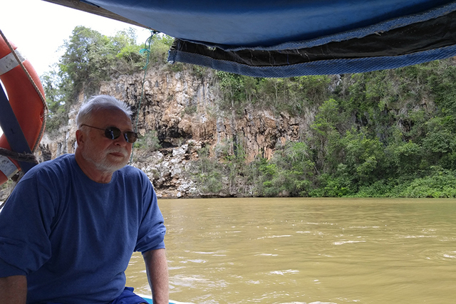 """Iser took a boat trip on an inland Cuba river photos by """"Gabriel and Joel Mark"""""""