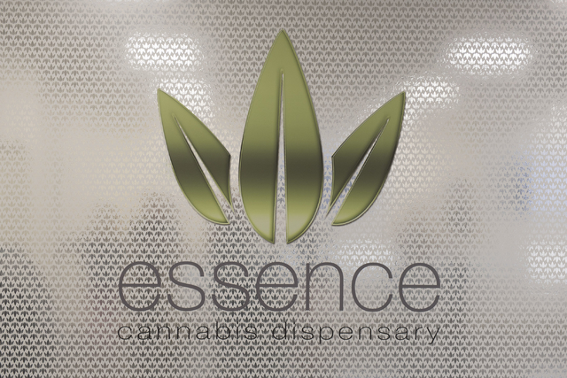 The Essence Cannabis Dispensary logo is displayed on a wall inside the dispensary at 4300 E. Sunset Road, Suite A3, in Henderson June 15, 2016. Jason Ogulnik/View