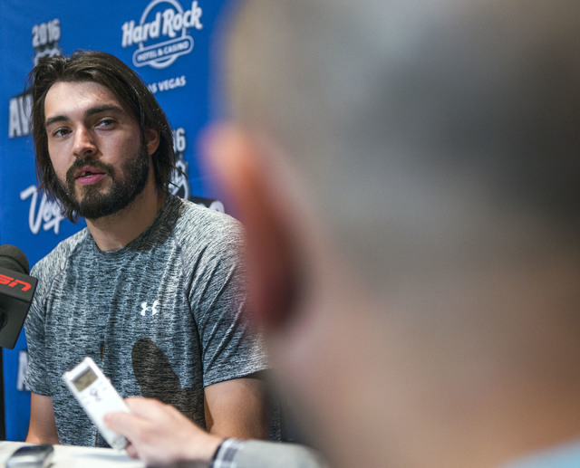 Los Angeles Kings defenseman Drew Doughty speaks during a National Hockey League press conference at the Encore on Tuesday, June 21, 2016. Jeff Scheid/Las Vegas Review-Journal Follow @jlscheid
