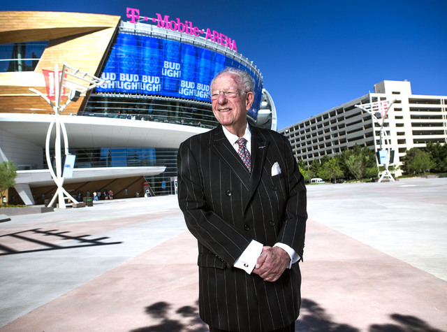 Former Las Vegas Mayor Oscar Goodman stands for a photo near T-Mobile Arena on Friday, June 17, 2016.  Goodman helped plant the seeds for an NHL team when he met with the league back in 1999. (Jef ...