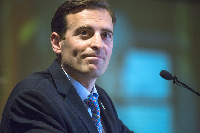 Nevada Attorney General Adam Laxalt, speaks during the 2016 Southern Nevada Housing Event for Realtors at the Four Seasons, 3960 Las Vegas Blvd., on Friday, June 10, 2016. (Jeff Scheid/Las Vegas R ...