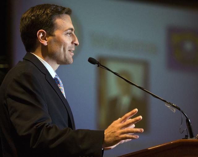 Nevada Attorney General Adam Laxalt, speaks during the 2016 Southern Nevada Housing Event for Realtors at the Four Seasons, 3960 Las Vegas Blvd., on Friday, June 10, 2016. (Jeff Scheid/Las Vegas R ...