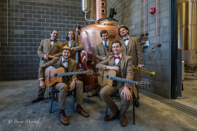 "Salt Lake City's Hot House West adds horns to gypsy jazz's traditional musical mix; the group will perform at Saturday's fifth annual ""DjangoVegas!"" COURTESY LAS VEGAS CULTURAL ARTS"