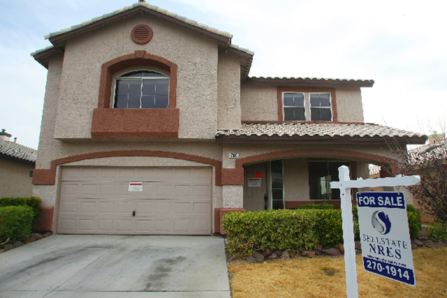 The Greater Las Vegas Association of Realtors, in a report being released Tuesday, said that the median price of existing single-family homes sold in Southern Nevada in May hit $229,250. (Las Vega ...