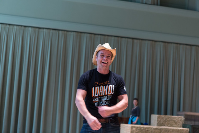 "Making his Las Vegas debut, Nathaniel Hackmann steps into his role as ""Idaho!"" leading man Whip Masters during a sneak peek at the new musical comedy, which begins previews Wednesday at The Smith  ..."