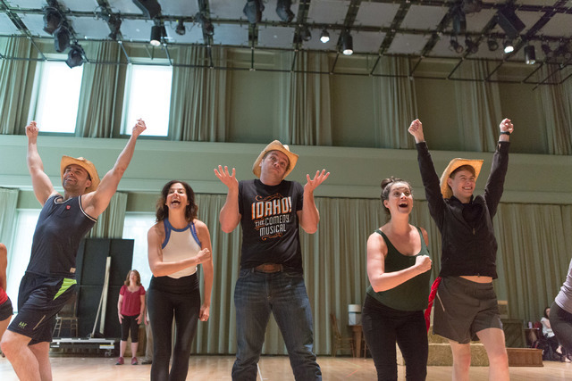 """Idaho! The Comedy Musical"" cast members extol the virtues of the potato capital during a run-through of the title number at The Smith Center, where the Broadway hopeful opens a 13-performance run ..."