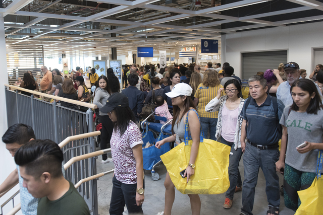 Patrons walk through the store during the opening day event for IKEA in Las Vegas Wednesday, May 18, 2016. Jason Ogulnik/Las Vegas Review-Journal