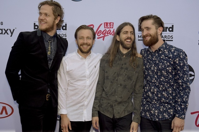 Imagine Dragons on the Red Carpet at the 2015 Billboard Music Awards ceremonies at the MGM Grand Garden Arena in Las Vegas, May 17, 2015. (Mark Damon/Las Vegas News Bureau)