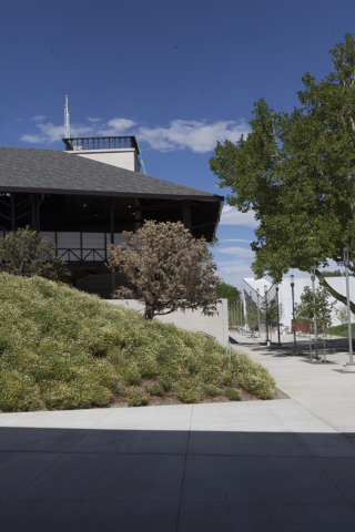 The Utah Shakespeare Festival's new Engelstad Shakespeare Theatre plays a starring role in the Beverley Taylor Sorenson Center for the Arts at Southern Utah University. (Southern Utah University)