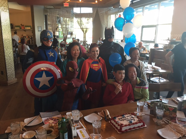 On April 29, 2016, California Pizza Kitchen at Downtown Summerlin, in partnership with the Make-A-Wish Foundation, held a Wish Reveal party for Matthew, a local 12-year-old boy who lives with Drav ...