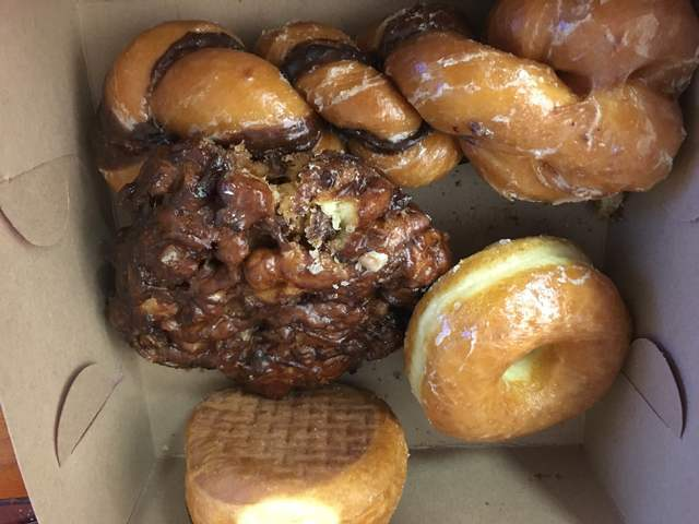 A variety of doughnuts are seen from Ronald's Donuts, 4600 Spring Mountain Road, May 23, 2016. Sandy Lopez/View
