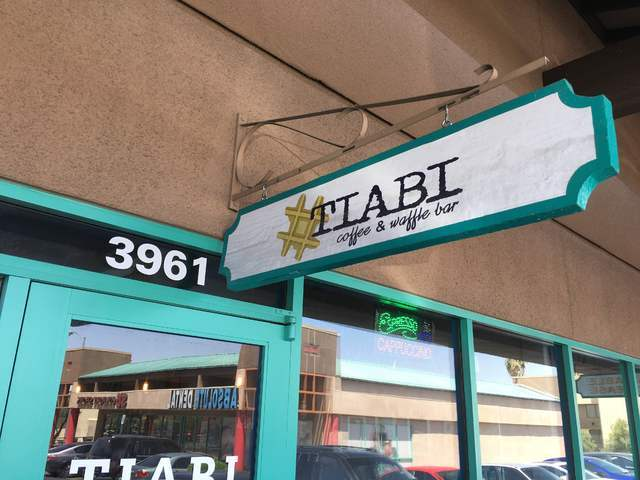 The exterior of Tiabi Coffee & Waffle Bar is seen at 3961 S. Maryland Parkway. Sandy Lopez/View