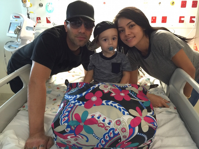 Criss Angel and his son Johnny Chrisstopher. (Courtesy)