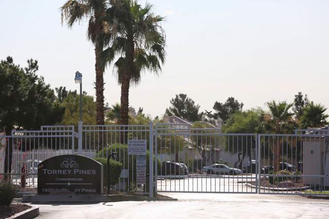 Torrey Pines condominiums in Las Vegas is seen on Thursday, June 30, 2016, where police say part of a quadruple murder-suicide took place Wednesday night. Brett Le Blanc/Las Vegas Review-Journal f ...
