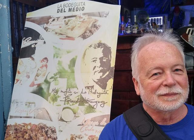 Dr. Joe Iser, head of the Southern Nevada Health District, got into a Havana, Cuba, bar because he looked like writer Ernest Hemingway. (Courtesy/Gabriel and Joel Mark)