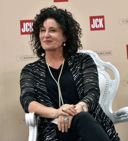 Costume designer Lyn Paolo participates in a panel discussion at the JCK Las Vegas jewelry industry show at the Mandalay Bay Convention Center Friday, June 3, 2016, in Las Vegas. David Becker/Las  ...