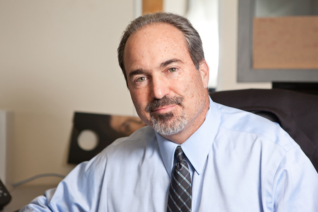 Nevada political commentator Jon Ralston on Monday, Nov. 19, 2012. (Chase Stevens/Las Vegas Review-Journal)