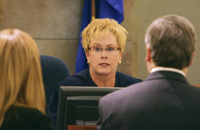 District Judge Jessie Walsh. (GARY THOMPSON/LAS VEGAS REVIEW-JOURNAL)