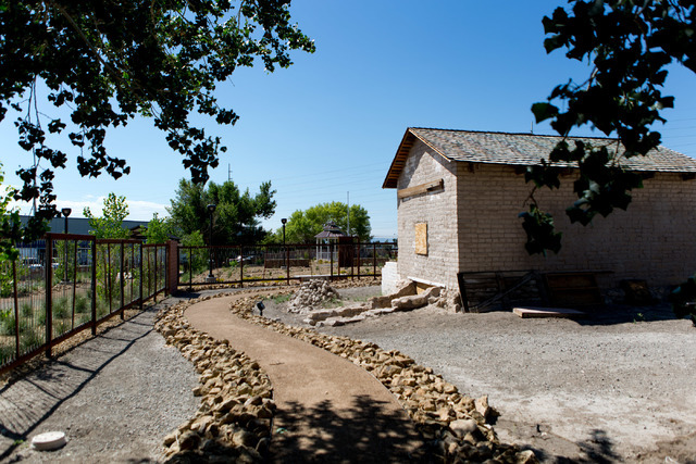 Kiel Ranch, one of the oldest areas of North Las Vegas, is ready for to be opened after renovations with park benches, pavillions, paths and historical signs, June 29, 2016. Kiel Ranch Historic Pa ...