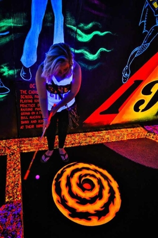 Many of the competitors at KISS by Monster Mini Golf are tourists. (Erik Kabik)