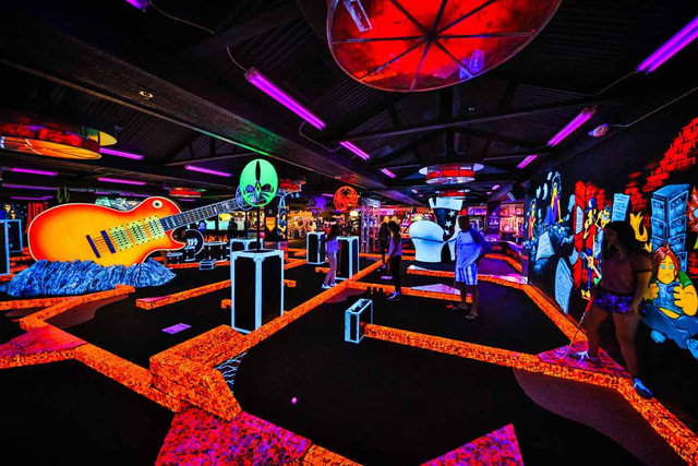 KISS by Monster Mini Golf is now open in its new and expanded home at the Rio. (Erik Kabik)