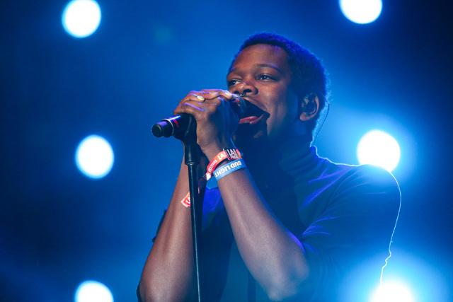 Shamir Bailey, from North Las Vegas, performs at the Los Angeles Pride Festival on Saturday, June 11, 2016. Brett Le Blanc/Las Vegas Review-Journal Follow @bleblancphoto