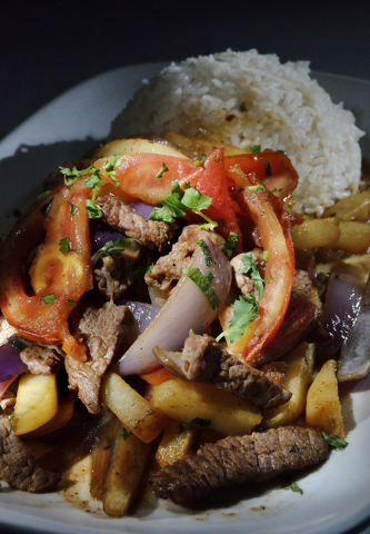 The Lomo Saltado, featuring lean beef with sauted tomatoes and onions with rice, is shown at Las Americas at 2319 S. Eastern Ave. in Las Vegas June 17, 2016. Bill Hughes/Las Vegas Review-Journal
