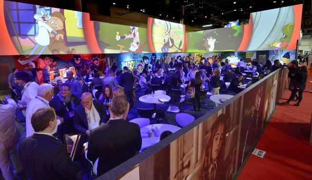 Part of the Warner Bros. Entertainment area is shown during the Licensing Expo at the Mandalay Bay Convention Center in Las Vegas on Tuesday, June 21, 2016. Bill Hughes/Las Vegas Review-Journal