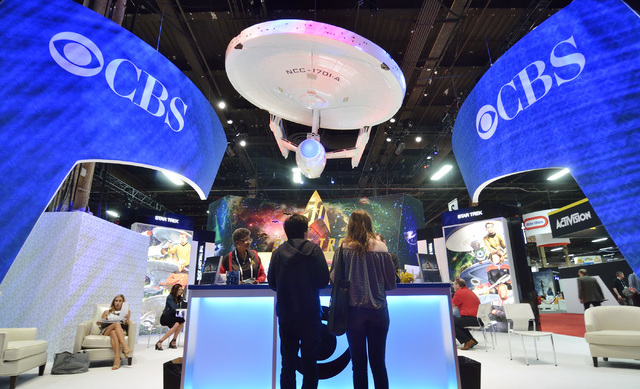 The CBS booth is shown at the Licensing Expo at the Mandalay Bay Convention Center in Las Vegas on Tuesday, June 21, 2016. Bill Hughes/Las Vegas Review-Journal