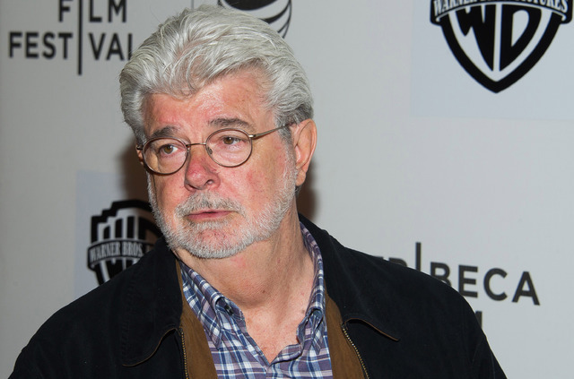 Filmmaker George Lucas, seen in 2015.  (Photo by Charles Sykes/Invision/AP, File)