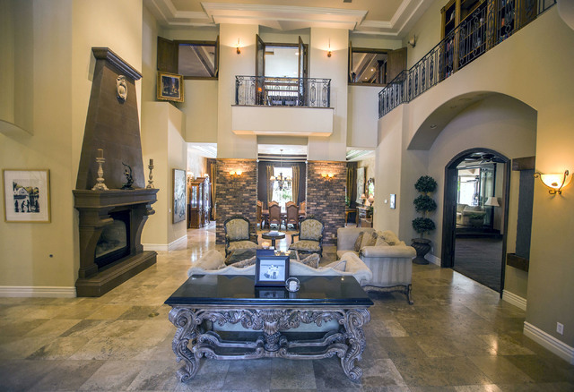 The living room at 2261 Candlestick Avenue in Henderson is seen on Monday, May, 31, 2016. The four-bedroom, 8,406-square-foot home is on the market for $1,675,000. (Jeff Scheid/Las Vegas Review-Jo ...