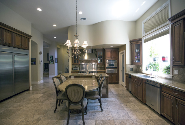 The kitchen at 2261 Candlestick Avenue in Henderson is seen on Monday, May, 31, 2016. The four-bedroom, 8,406-square-foot home is on the market for $1,675,000. (Jeff Scheid/Las Vegas Review-Journa ...