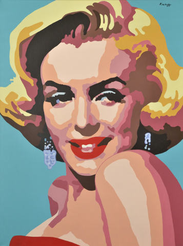 Artist Martin Kreloff's portrait of Marilyn Monroe shows off his hard-edged pop art style. Bill Hughes/Las Vegas Review-Journal