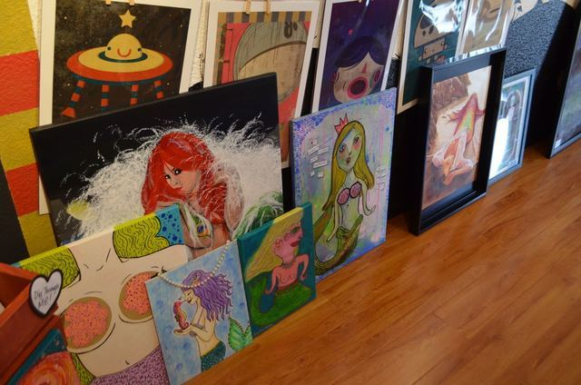 A variety of mermaid-inspired art was created for the inaugural group show at The Bubblegum Gallery. Ginger Meurer/Special to View
