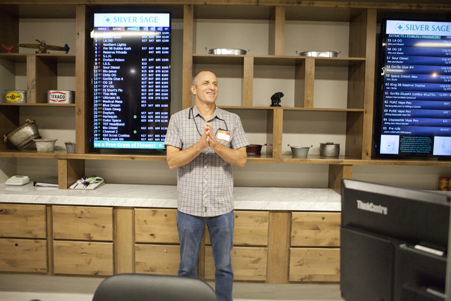 Braly Joy, general manager of Silver Sage Wellness, talks about how medical marijuana is helping veterans on Friday, June 3, 2016, in Las Vegas. (Loren Townsley/Las Vegas Review-Journal Follow @lo ...
