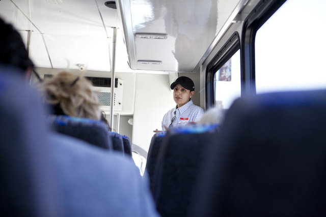 Cristina Alfonso- Zea, retired from the U.S. Army, tours the Silver Sage Wellness dispensary and DB Labs on Friday, June 3, 2016, in Las Vegas. (Loren Townsley/Las Vegas Review-Journal Follow @lor ...