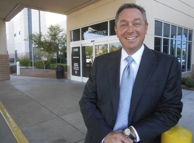 Chris Mowan takes a break from his duties as the new chief executive officer of MountainView Hospital, 3100 N. Tenaya Way, Sept. 27. (Jan Hogan/View)
