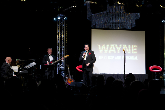 "Wayne Newton talks during his show ""Up Close And Personal"" on Thursday, June 16, 2016 at the Bally's hotel-casino in Las Vegas. Loren Townsley/Las Vegas Review-Journal Follow @lo ..."