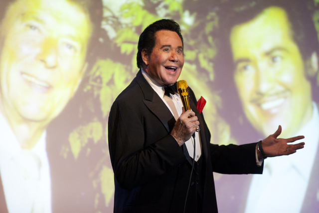 "Wayne Newton talks about his relationship with Former President Ronald Reagan during his show ""Up Close And Personal"" on Thursday, June 16, 2016 at the Bally's hotel-casino in La ..."