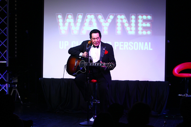 "Wayne Newton plays the guitar during his show ""Up Close And Personal"" on Thursday, June 16, 2016 at the Bally's hotel-casino in Las Vegas. Loren Townsley/Las Vegas Review-Journal ..."