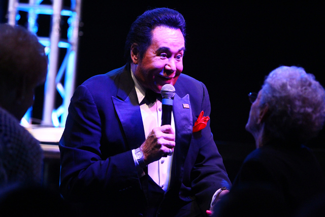"Wayne Newton introduces himself to the audience members during his show ""Up Close And Personal"" on Thursday, June 16, 2016 at the Bally's hotel-casino in Las Vegas. Loren Townsley/Las Vegas Review ..."