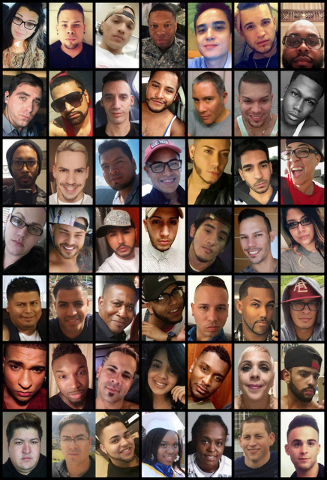 This photo combination shows victims of the mass shooting that occurred early Sunday, June 12, 2016, at the Pulse nightclub in Orlando, Fla. (AP)