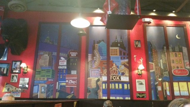 A mural honors Detroit inside Northside Nathan's, 7531 W. Lake Mead Blvd., No. 120. Lisa Valentine/View